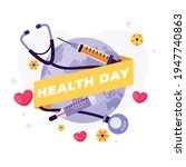 world health day banner with...   Shutterstock .eps vector #1947740863