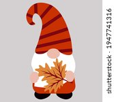 cute autumn gnome  vector... | Shutterstock .eps vector #1947741316
