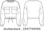 unisex drawstring hem  pocket...   Shutterstock .eps vector #1947749590