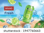 mojito aluminium can ads with... | Shutterstock .eps vector #1947760663
