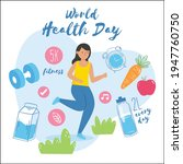 world health day concept with...   Shutterstock .eps vector #1947760750