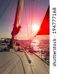 sailing boat  | Shutterstock . vector #194777168