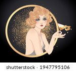 art deco vintage illustration... | Shutterstock .eps vector #1947795106