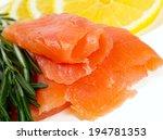 smoked salmon | Shutterstock . vector #194781353