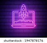 startup pink glowing neon ui ux ...