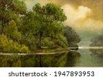 Oil Paintings Summer Landscape  ...