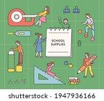 student characters using huge... | Shutterstock .eps vector #1947936166
