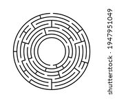 vector circle maze isolated on...   Shutterstock .eps vector #1947951049