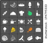 set of 25 food vector web and... | Shutterstock .eps vector #194795333