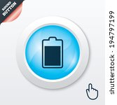 battery level sign icon....