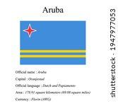 aruba national flag  country's...   Shutterstock .eps vector #1947977053