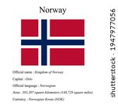 norway national flag  country's ...   Shutterstock .eps vector #1947977056