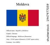 moldova national flag  country...   Shutterstock .eps vector #1947977059