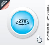 angle 270 degrees sign icon....
