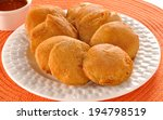 potato pakora   chutney  an...   Shutterstock . vector #194798519
