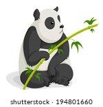panda bear eating bamboo | Shutterstock .eps vector #194801660