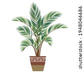 indoor plant palm tree in a... | Shutterstock .eps vector #1948046686