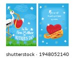double sided a6 or a5 postcard...   Shutterstock .eps vector #1948052140