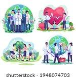 set bundle of world helath day...   Shutterstock .eps vector #1948074703