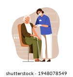 nurse with syringe vaccinating... | Shutterstock .eps vector #1948078549