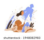 soul rising and leaving human... | Shutterstock .eps vector #1948082983