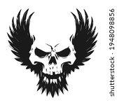 black skull illustration with... | Shutterstock .eps vector #1948098856