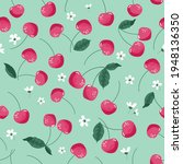 summer seamless pattern with...   Shutterstock .eps vector #1948136350