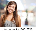 portrait of pretty young woman... | Shutterstock . vector #194815718