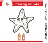 starfish color by numbers.... | Shutterstock .eps vector #1948158796