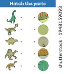 dinosaurs match the part... | Shutterstock .eps vector #1948159093