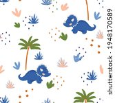 childish seamless pattern with... | Shutterstock .eps vector #1948170589