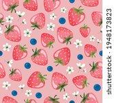 strawberry summer seamless...   Shutterstock .eps vector #1948173823
