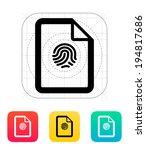 fingerprint on file icon.