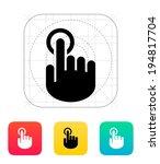 hand finger id icon. hand...