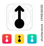 scroll up gesture abstract icon.