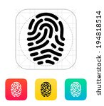 fingerprint scanner icon.