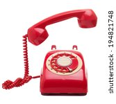 Vintage Telephone Isolated...