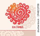 sun symbol | Shutterstock .eps vector #194821958