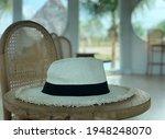 beautiful white panama hat on...   Shutterstock . vector #1948248070