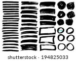 vector brush lines set | Shutterstock .eps vector #194825033