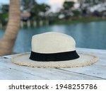beautiful white panama hat on...   Shutterstock . vector #1948255786