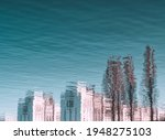 Cityscape. Abstract Reflection...