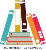 books notebooks reading list... | Shutterstock .eps vector #1948295170