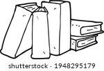 books notebooks reading list... | Shutterstock .eps vector #1948295179