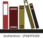 books notebooks reading list... | Shutterstock .eps vector #1948295200