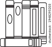 books notebooks reading list... | Shutterstock .eps vector #1948295203