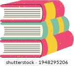 books notebooks reading list... | Shutterstock .eps vector #1948295206