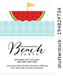 beach party invitation with... | Shutterstock .eps vector #194829734