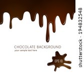 melting chocolate on white... | Shutterstock .eps vector #194832548