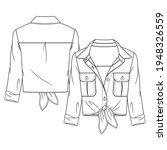 women knotted shirt flat... | Shutterstock .eps vector #1948326559